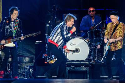 Rolling Stones pay tribute to Charlie Watts at start of US tour